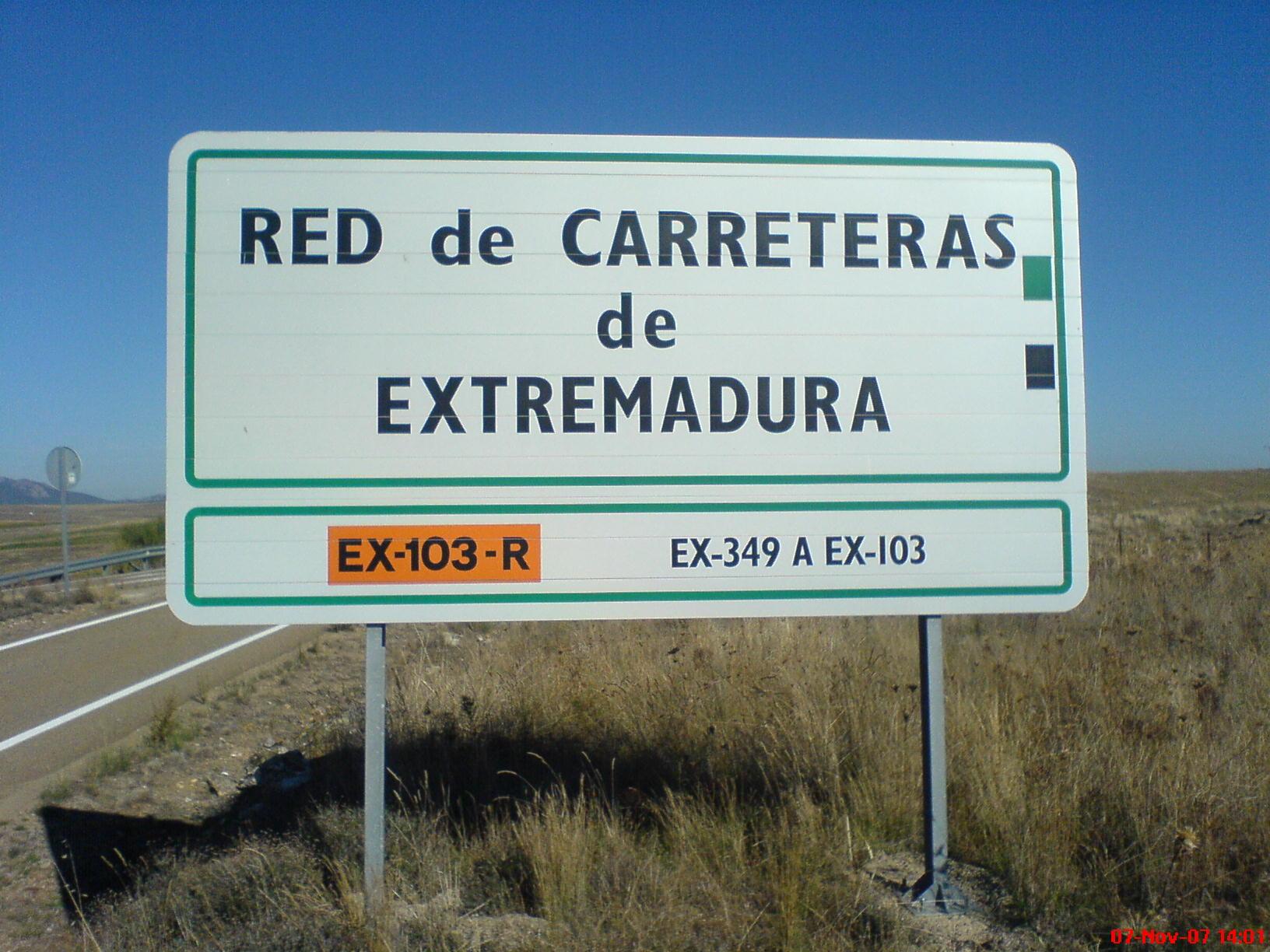File:Cartel carretera EX-103R JPG - Wikimedia Commons