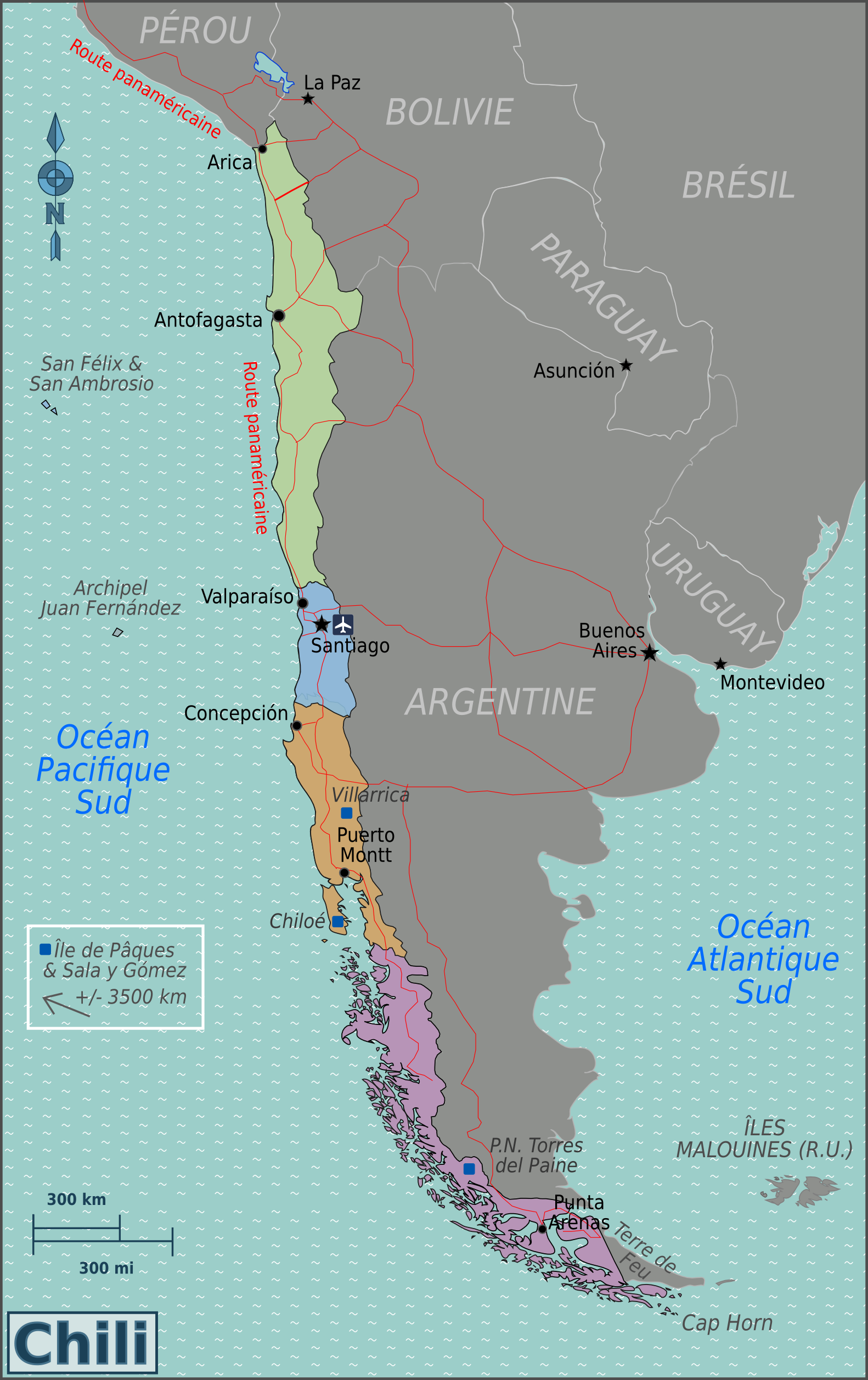 FileChile Regions Map Frpng Wikimedia Commons - Chile regions map
