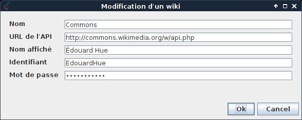 The wiki modification screen.