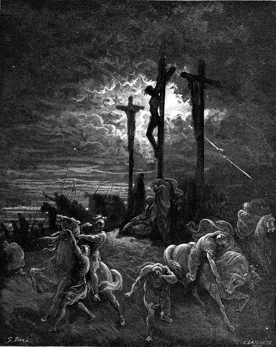 숨을 거두신 예수님 (귀스타브 도레, Gustave Dore, 1866년)