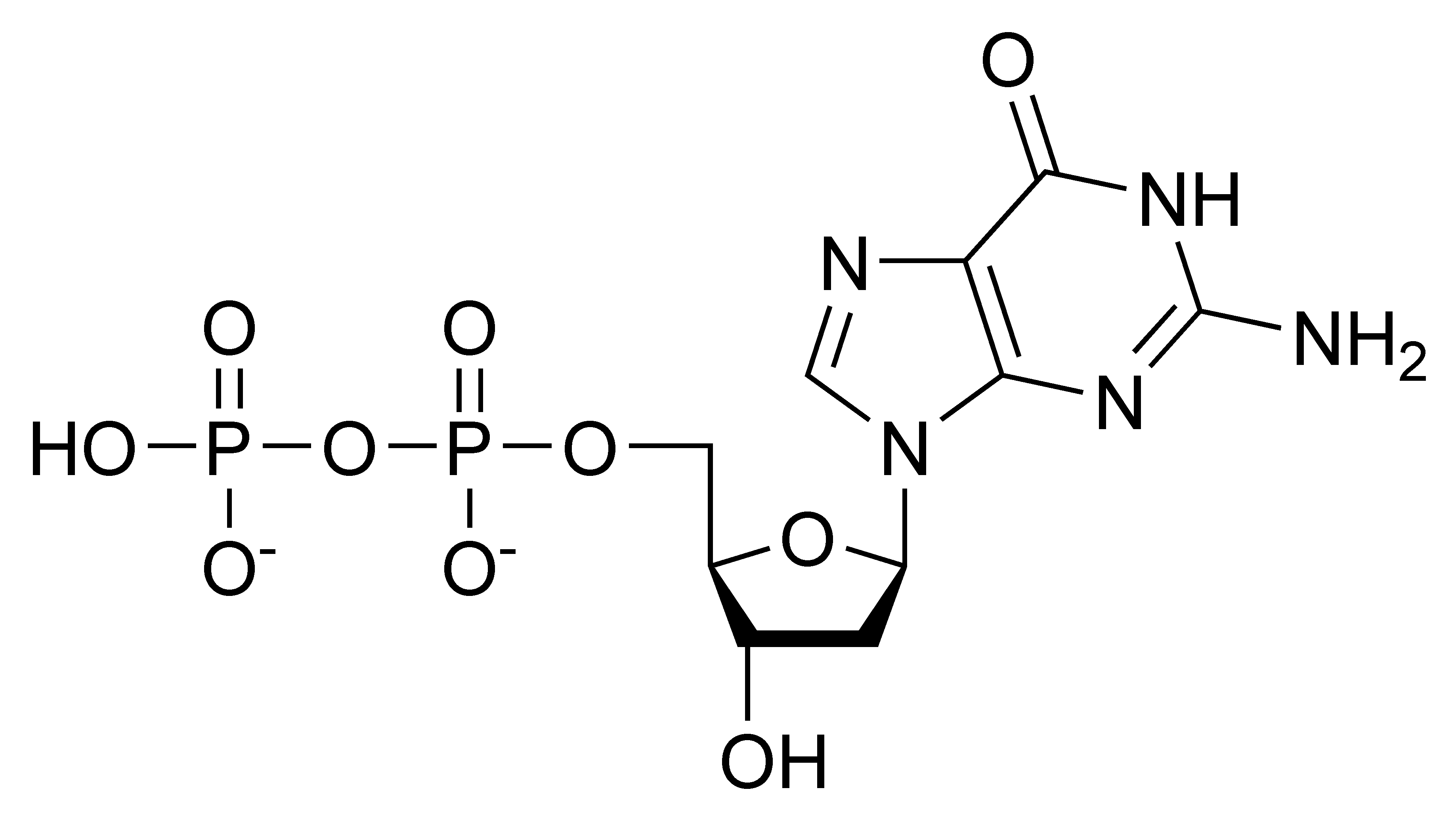 Chemical structure of deoxyguanosine diphosphate