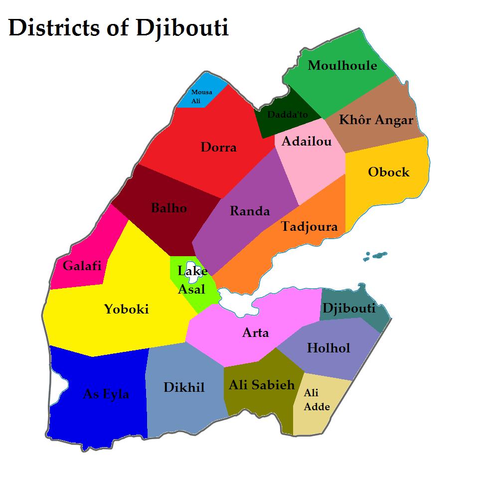 FileDistricts Of The Republic Of Djiboutipng Wikimedia Commons - Republic of djibouti map