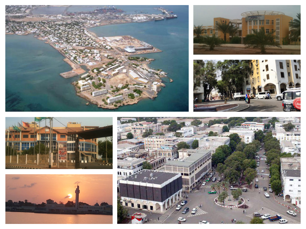 Collage of Djibouti City