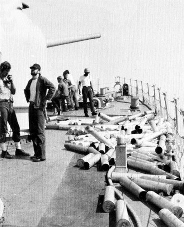 File:Empty shell casings on USS John S  McCain (DDG-36) in
