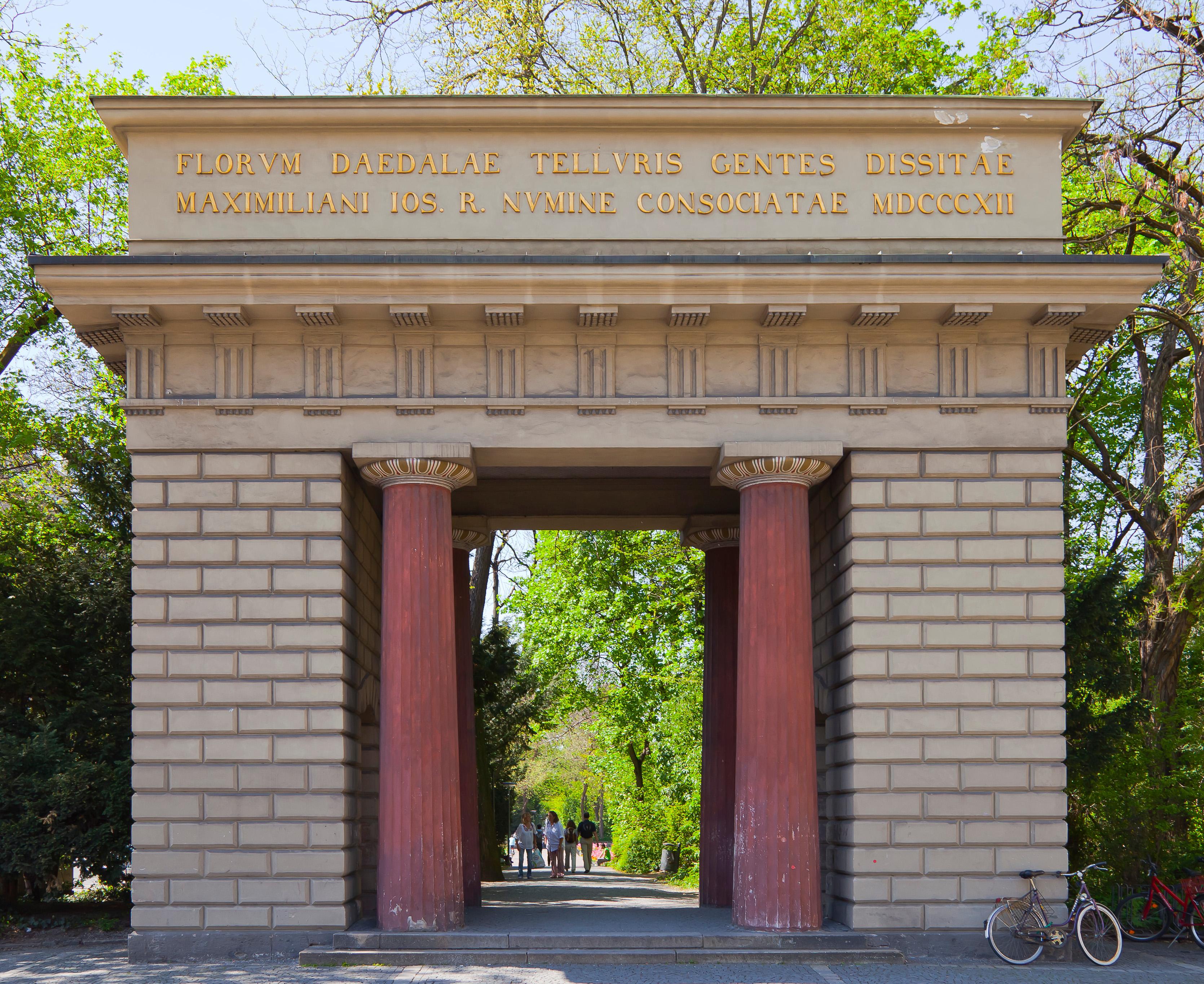 File entrada al antiguo jard n bot nico m nich alemania for Jardin botanico costo entrada