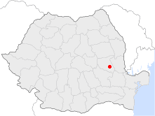 Location of Focşani
