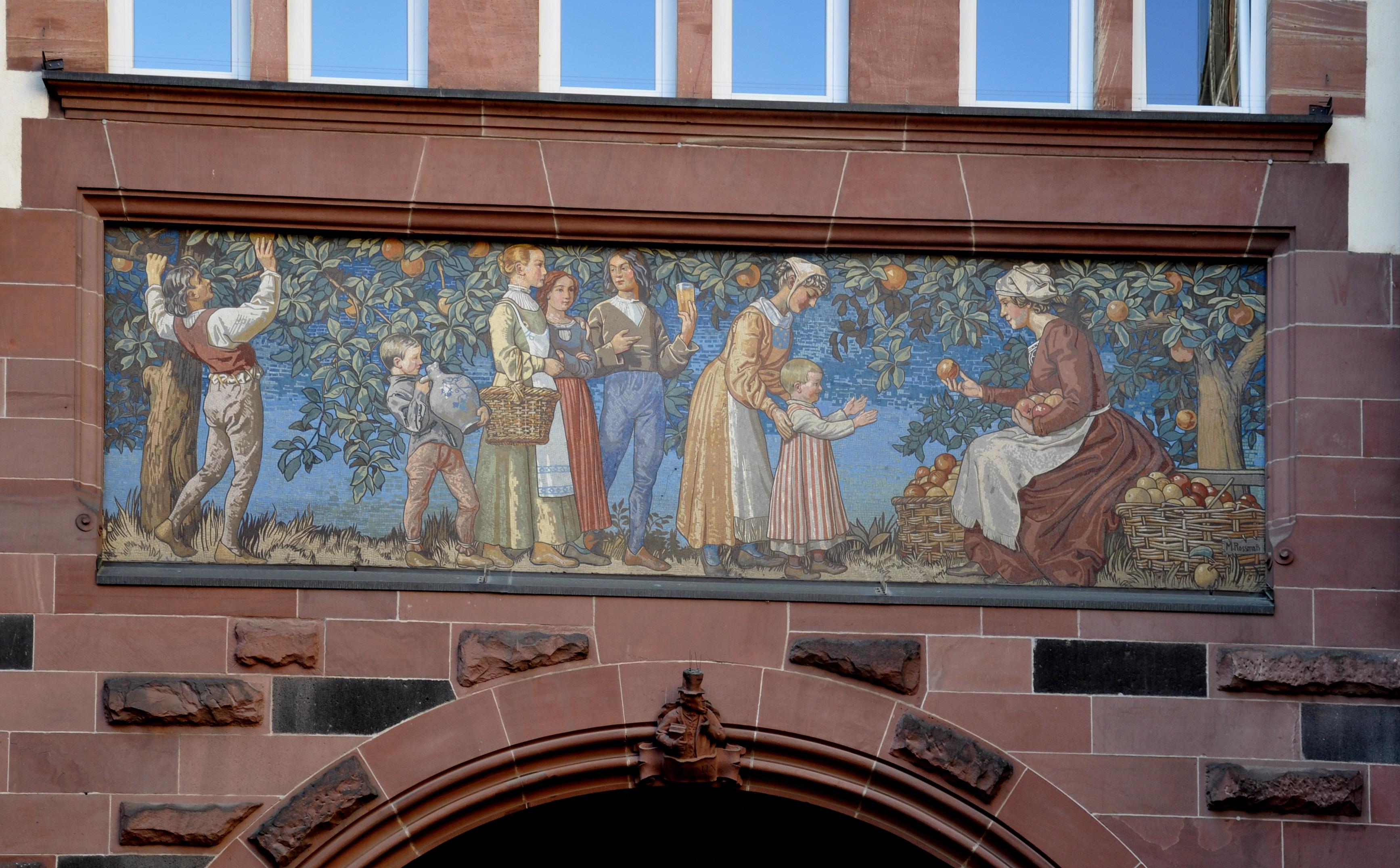 Mosaik Frankfurt file frankfurt neues rathaus südbau hof durchgang zur limpurgergasse