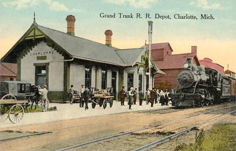 Charlotte (MI) United States  City pictures : Grand Trunk Depot, Charlotte, Michigan Wikipedia, the free ...