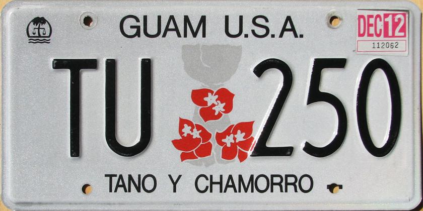 Vehicle registration plates of Guam - Wikipedia