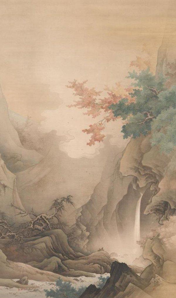 橋本雅邦「白雲紅樹」(1890年)