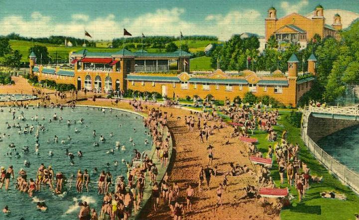 File Hersheypark Swimming Pool Sandy Beach 1941 Jpg