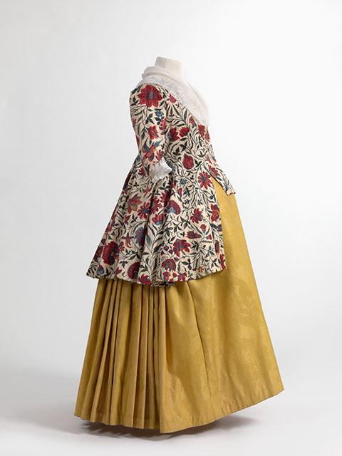 File Jacket In Chintz Skirt In Wool Damask 1750 1800