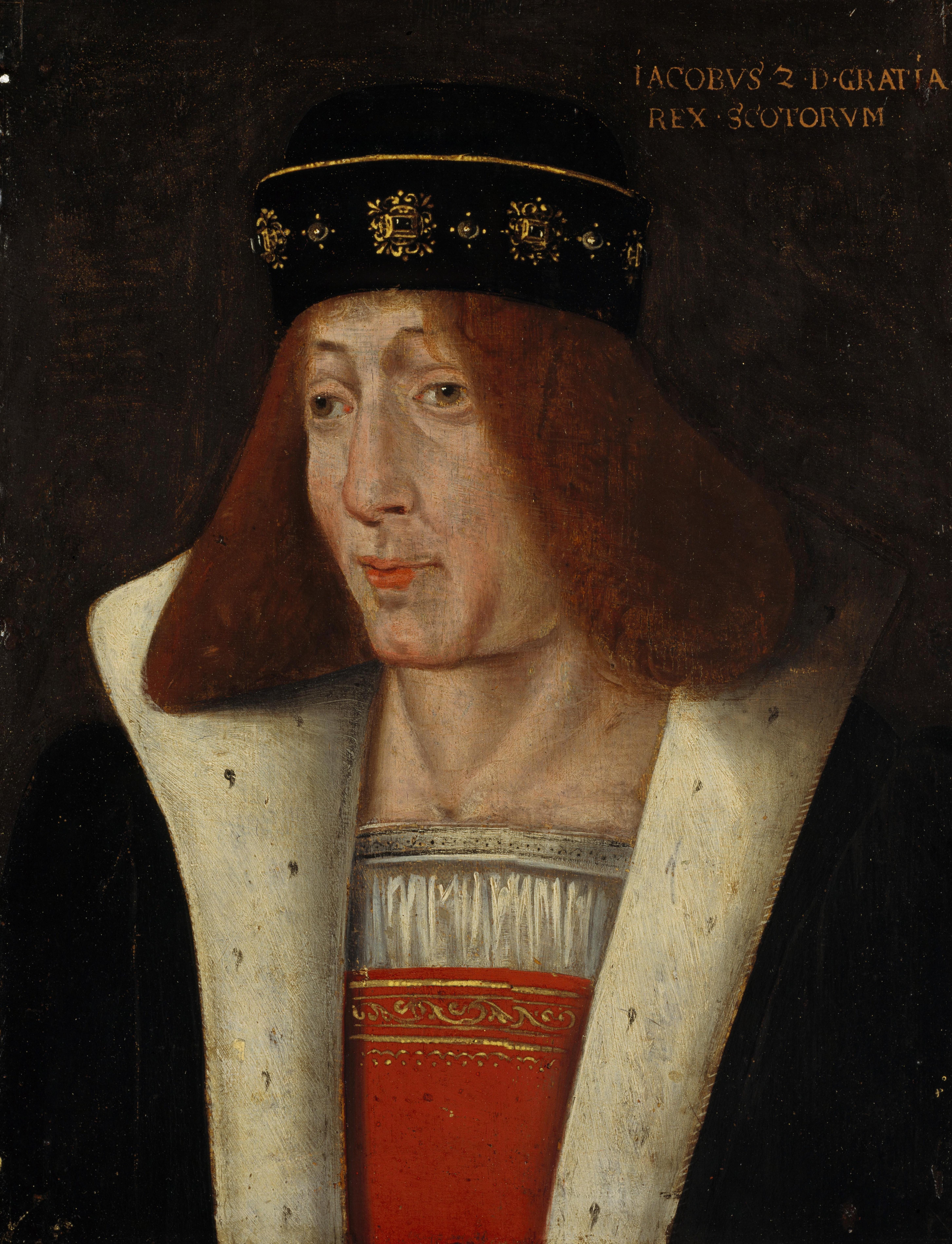 A oil portrait of King James II of Scotland