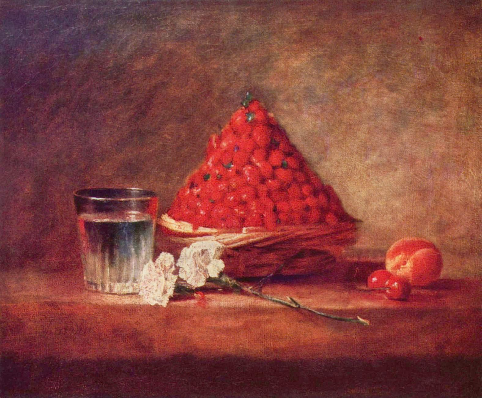 Der Erdbeerkorb (1760–61) von Jean Siméon Chardin