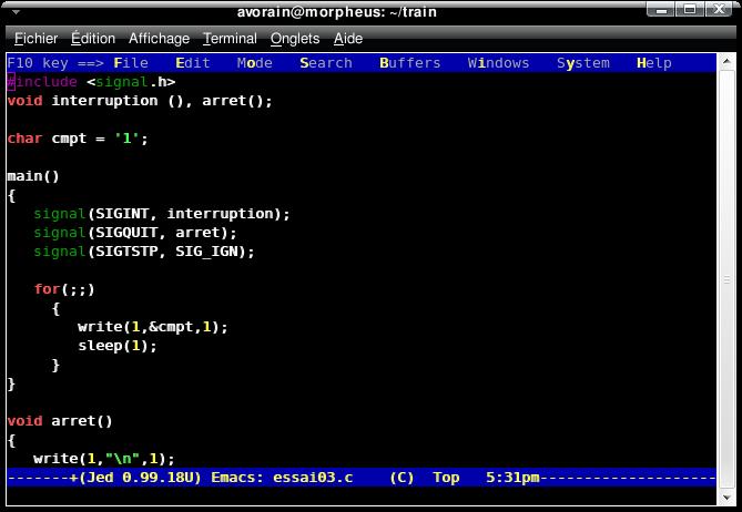 editeur de texte emacs