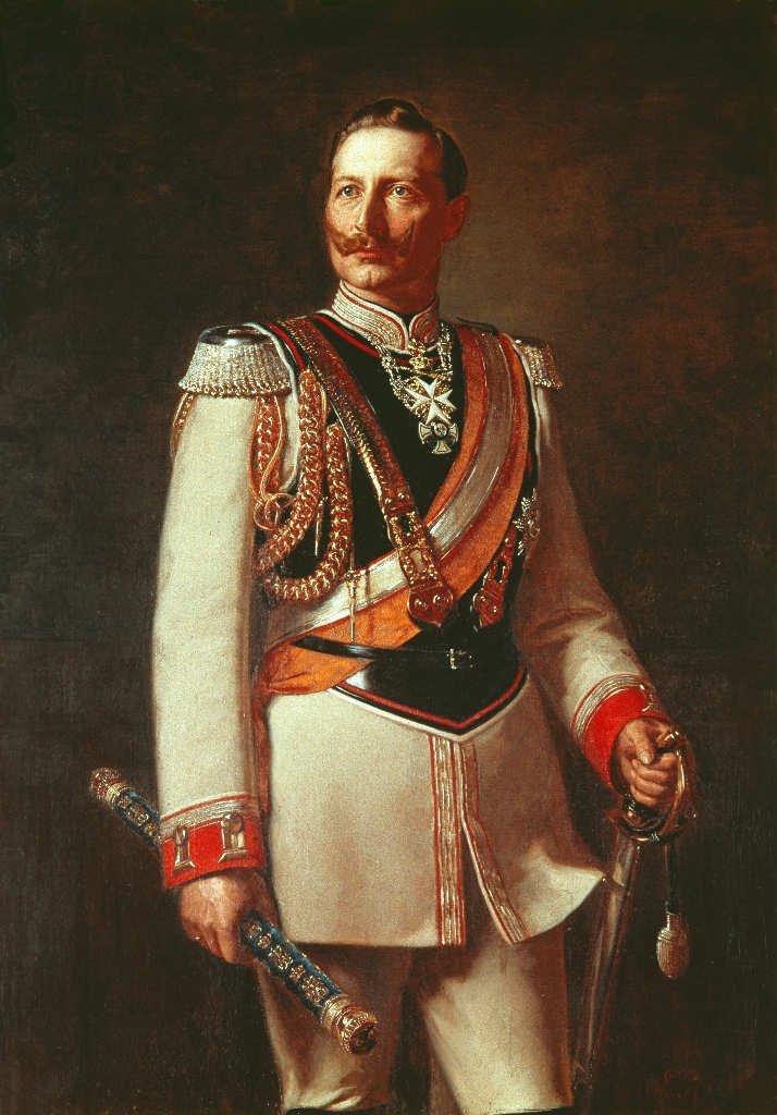 in der Uniform der Gardes-du-Corps Deutsches Kaiserreich 57 Kaiser Wilhelm II