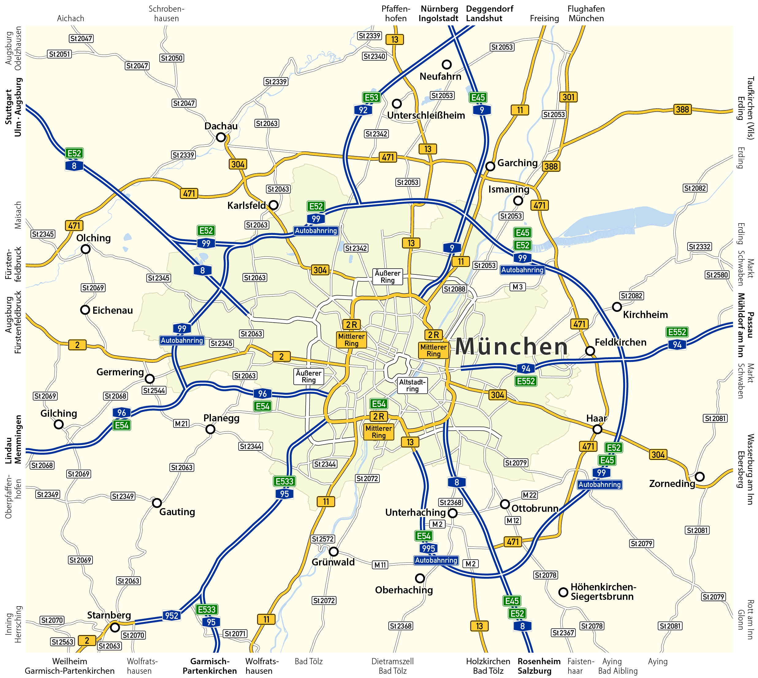 Munich Wikipedia – Munich Tourist Attractions Map