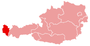 Форарльберг на карте