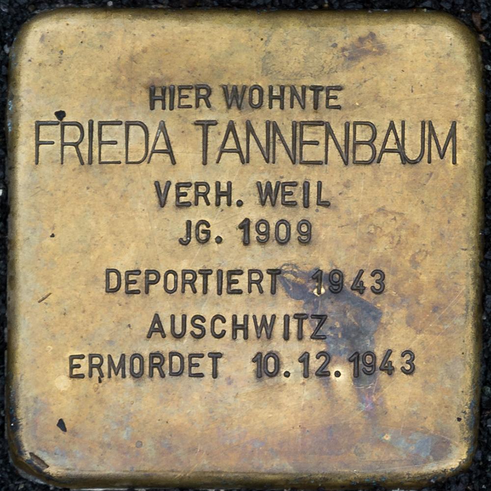 Kronach - Stolperstein Frieda Tannenbaum (Friesener Straße 21).jpg