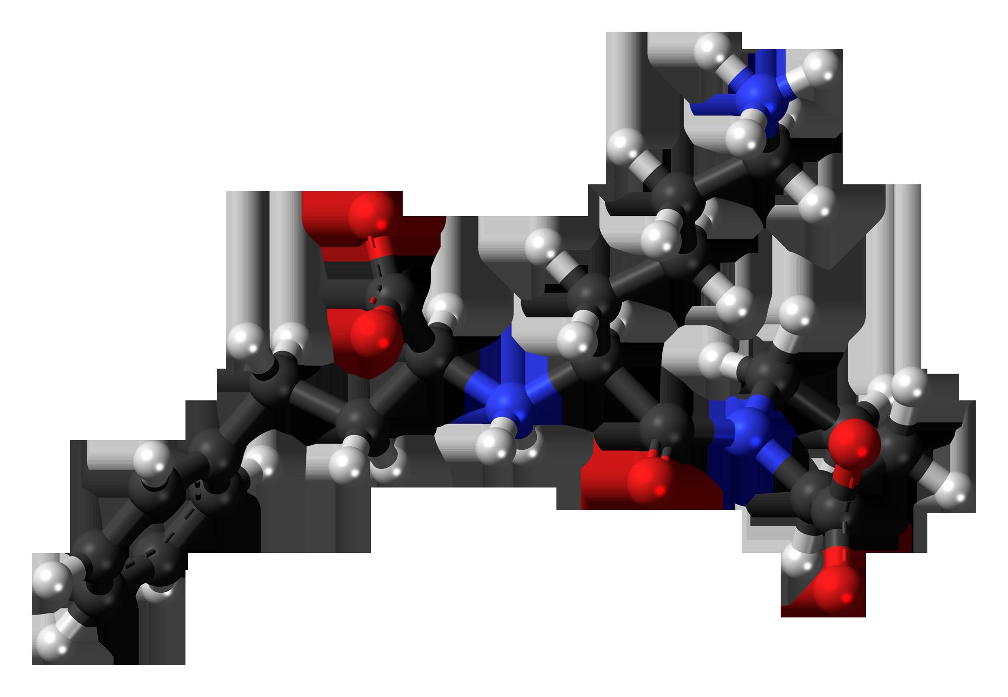 Lisinopril zwitterion 3D ball Lisinopril