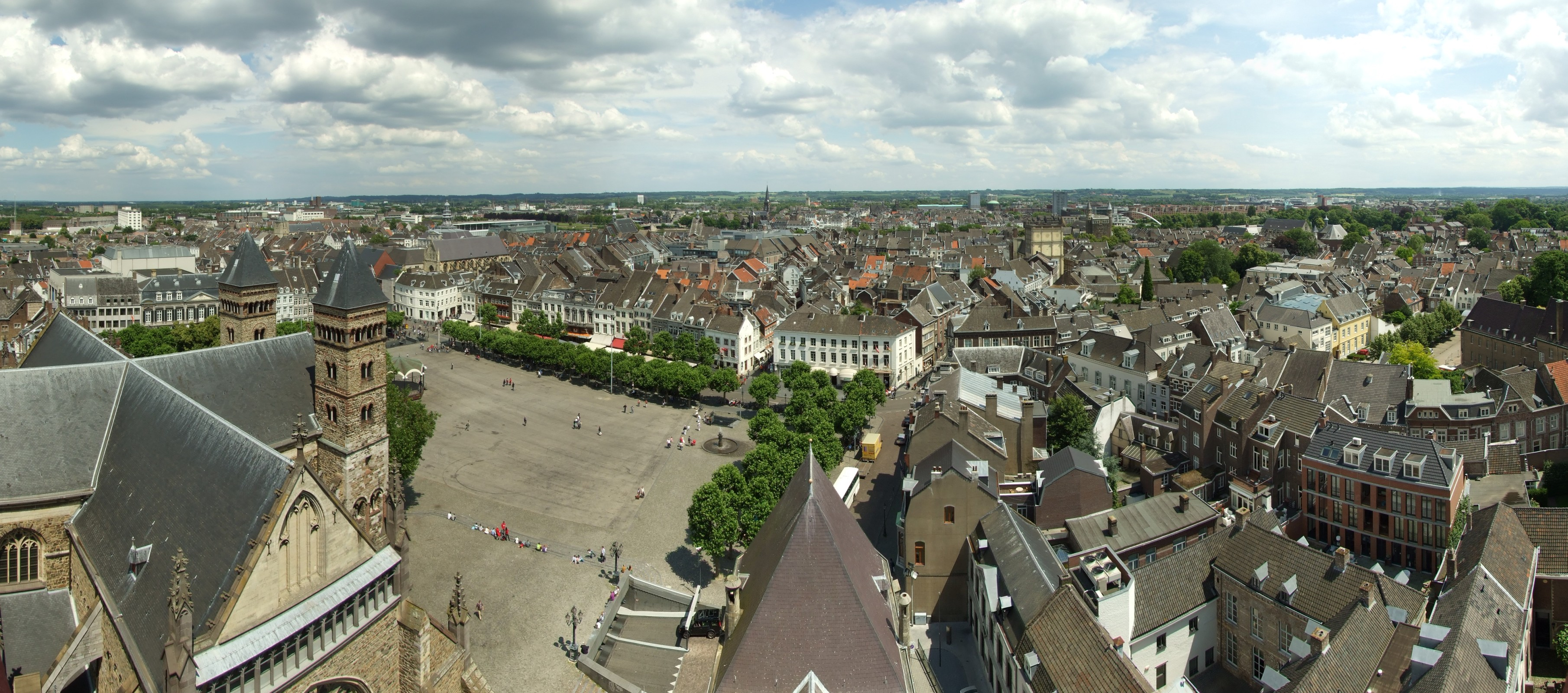 Maastricht skyline, from the church tower