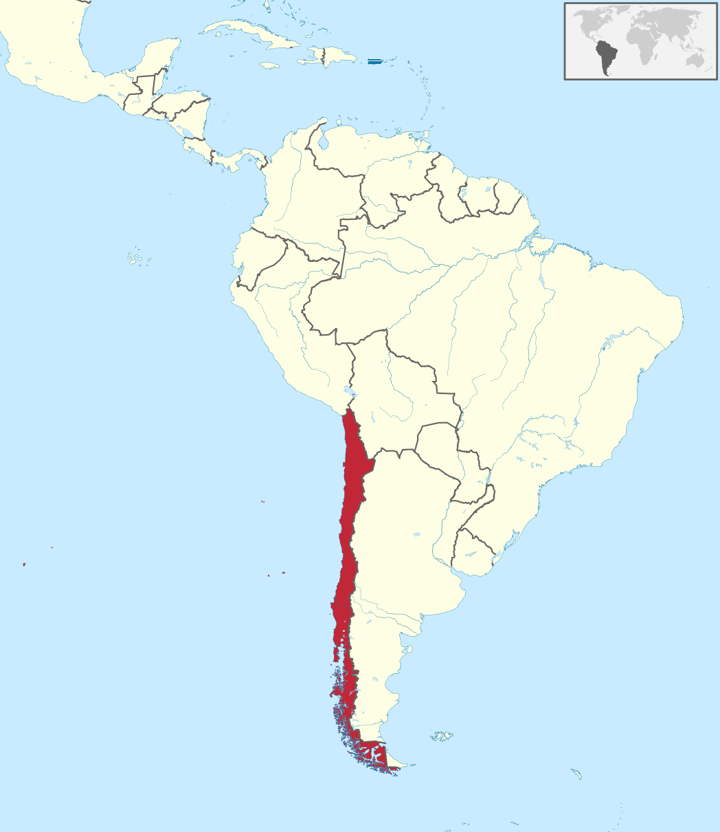 Map Of Chile South America Fichier:Map of Chile in South America.png — Wikipediya Map Of Chile South America