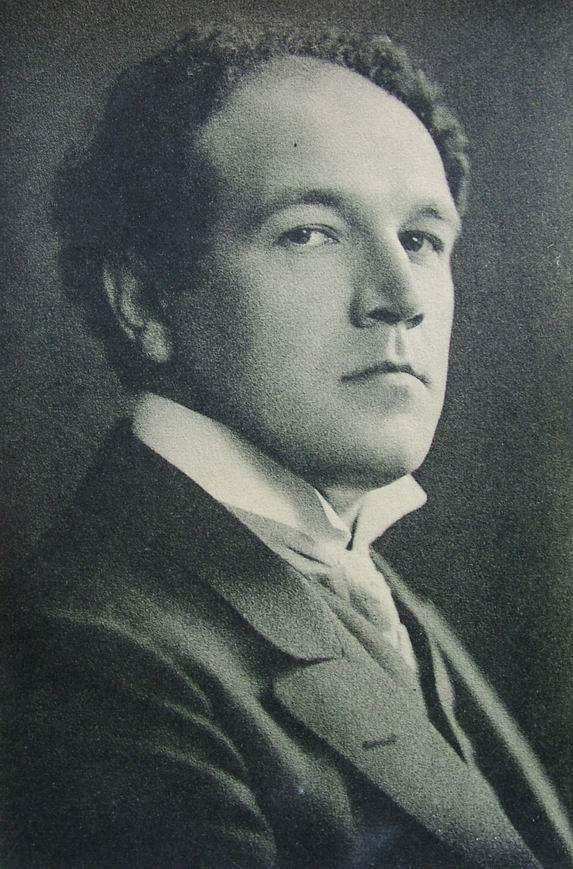 Nikolai Medtner, postcard (1910)