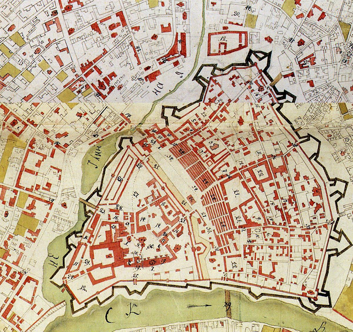 File Moscow Kremlin Map 1760s Jpg Wikimedia Commons