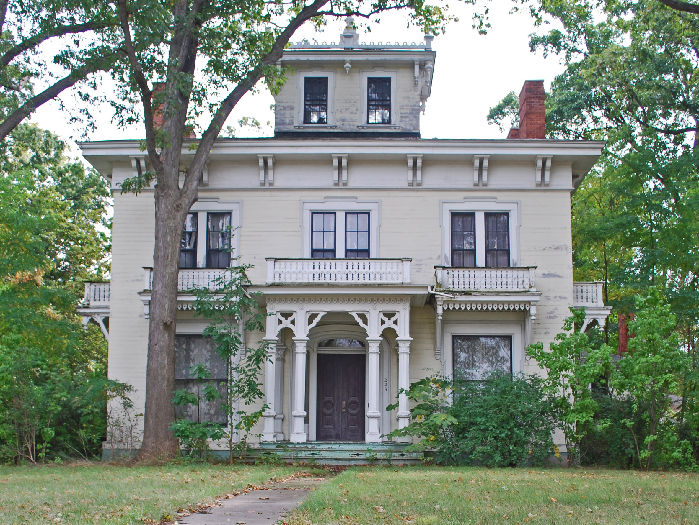 File myrick palmer house pontiac mi jpg wikimedia commons for Building a home in michigan
