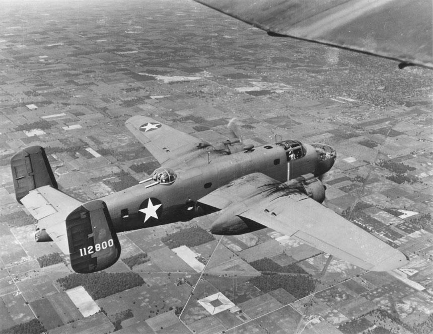 El bombardero Boeing B-25C Mitchell.