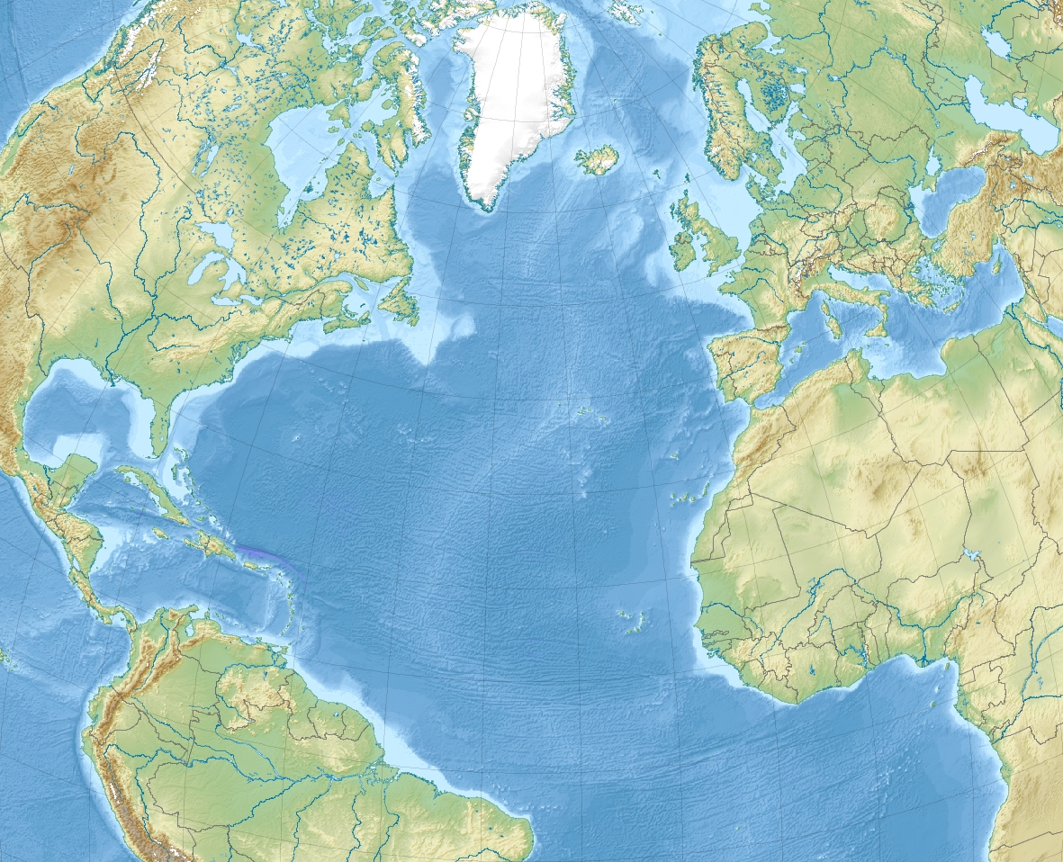 filenorth atlantic ocean laea relief location map. filenorth atlantic ocean laea relief location map  wikimedia