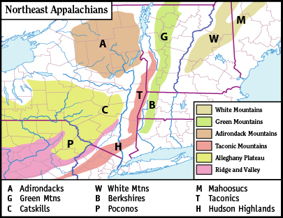 Appalachian Mountains Wikipedia Best Appalachian Mountains Map - Mountain ranges of united states