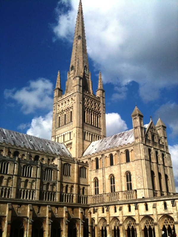 File Norwich Cathedral Spire And South Transept Jpg