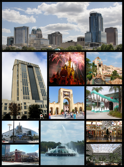 English: A montage of things in Orlando, Florida