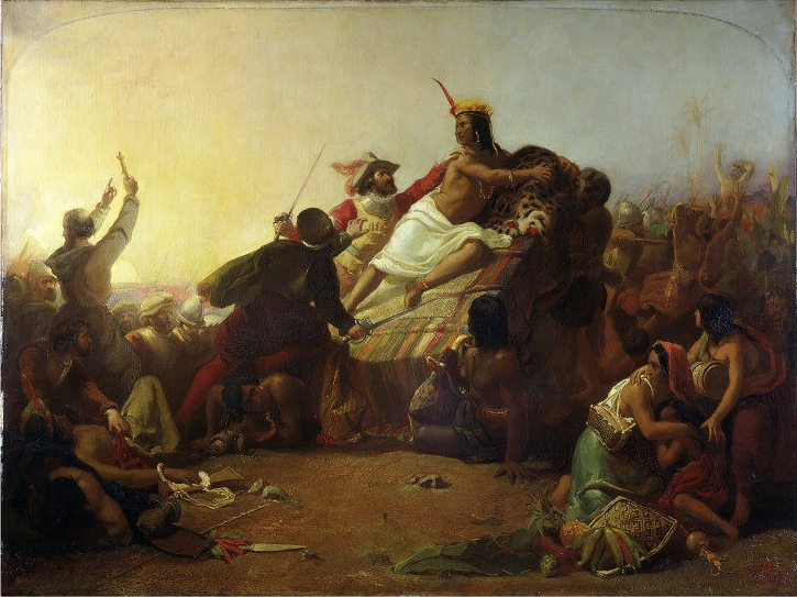 """Pizarro Seizing the Inca of Peru"", John Everett Millais, 1844"