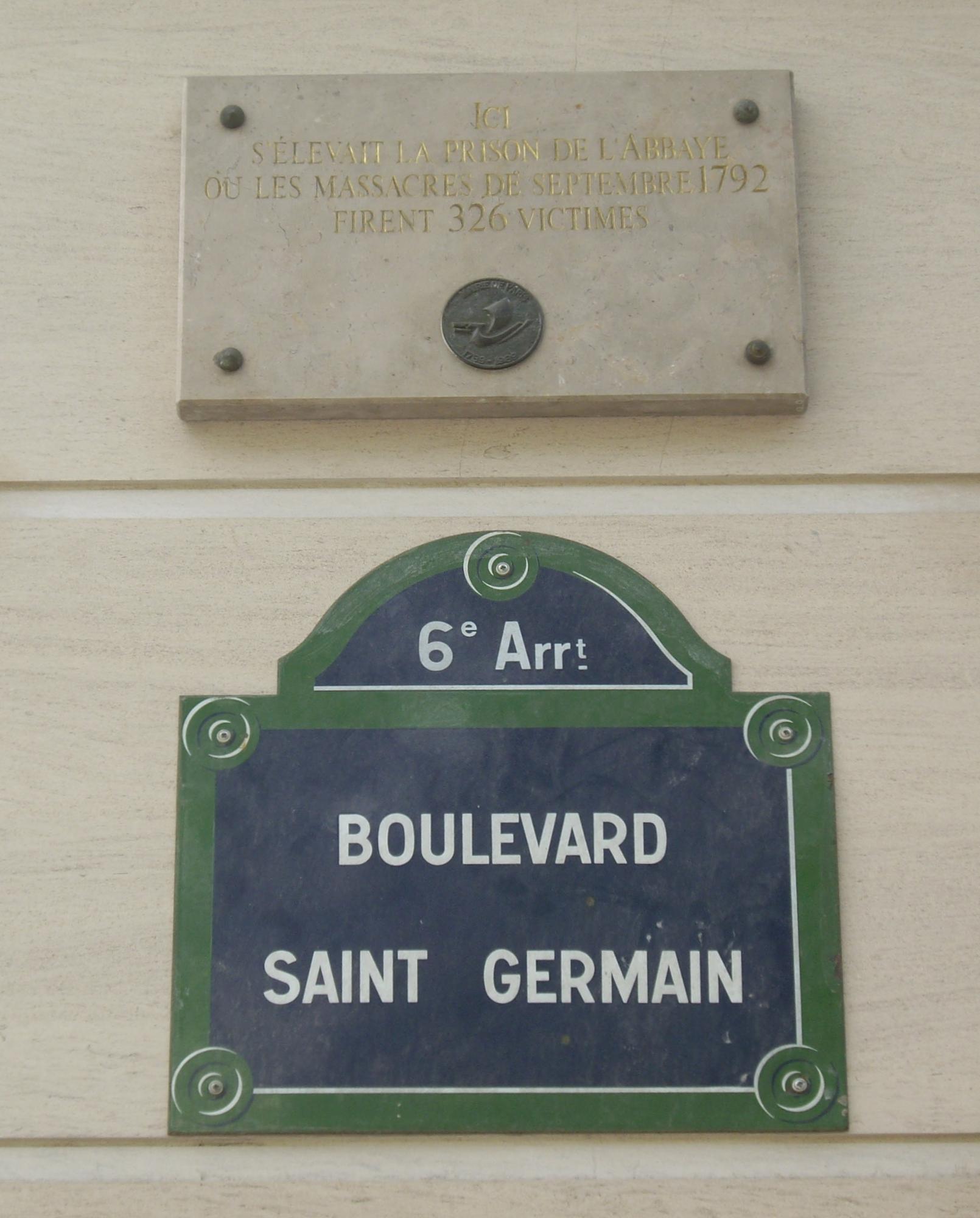 fichier plaque prison de l 39 abbaye 133 boulevard saint. Black Bedroom Furniture Sets. Home Design Ideas