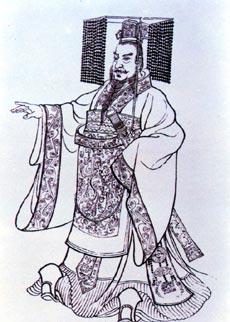 """秦始皇想像图。为东亚史上第一个使用""""皇帝""""称号的君主"""