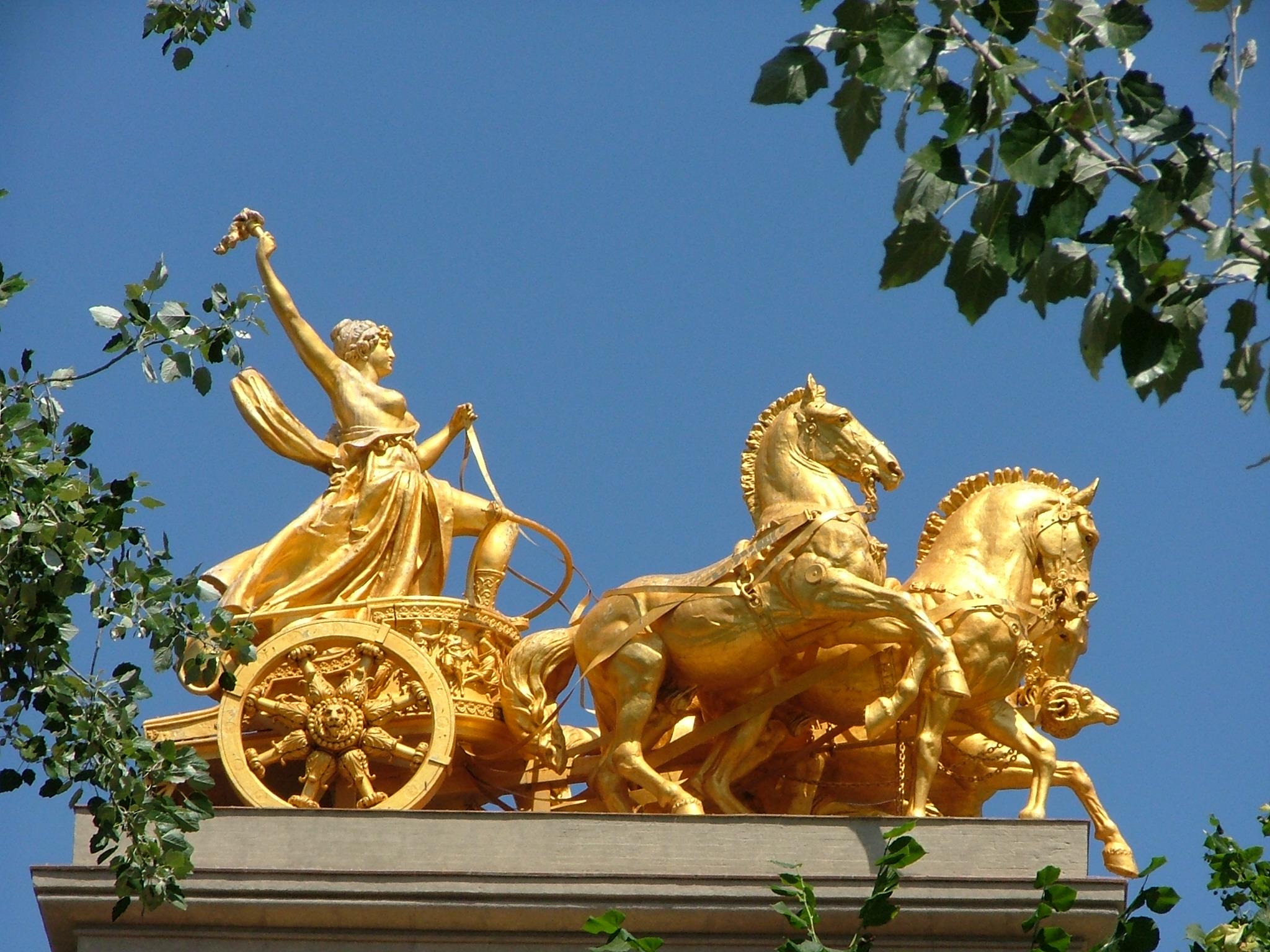 Quadriga Brandenburg Gate Berlin Germany Europe Stock Photo ...