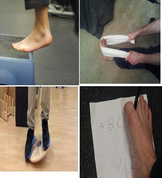 Rehabilitation Exercises for an ankle sprain