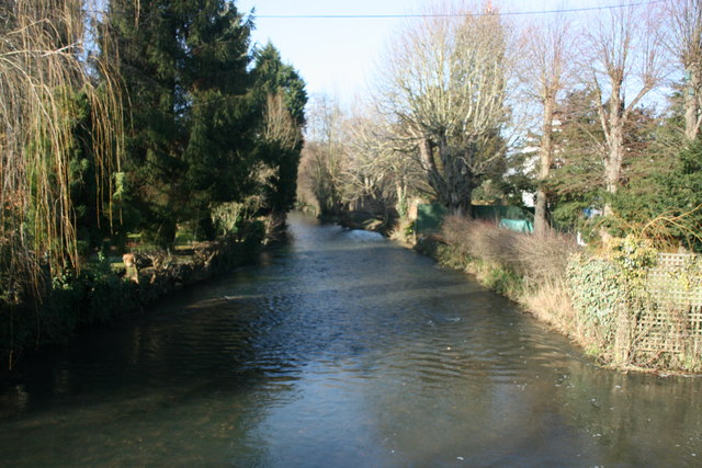 River Darent, Shoreham, downstream - geograph.org.uk - 1729488
