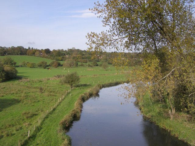 River Itchen from Hockley Viaduct - geograph.org.uk - 270591