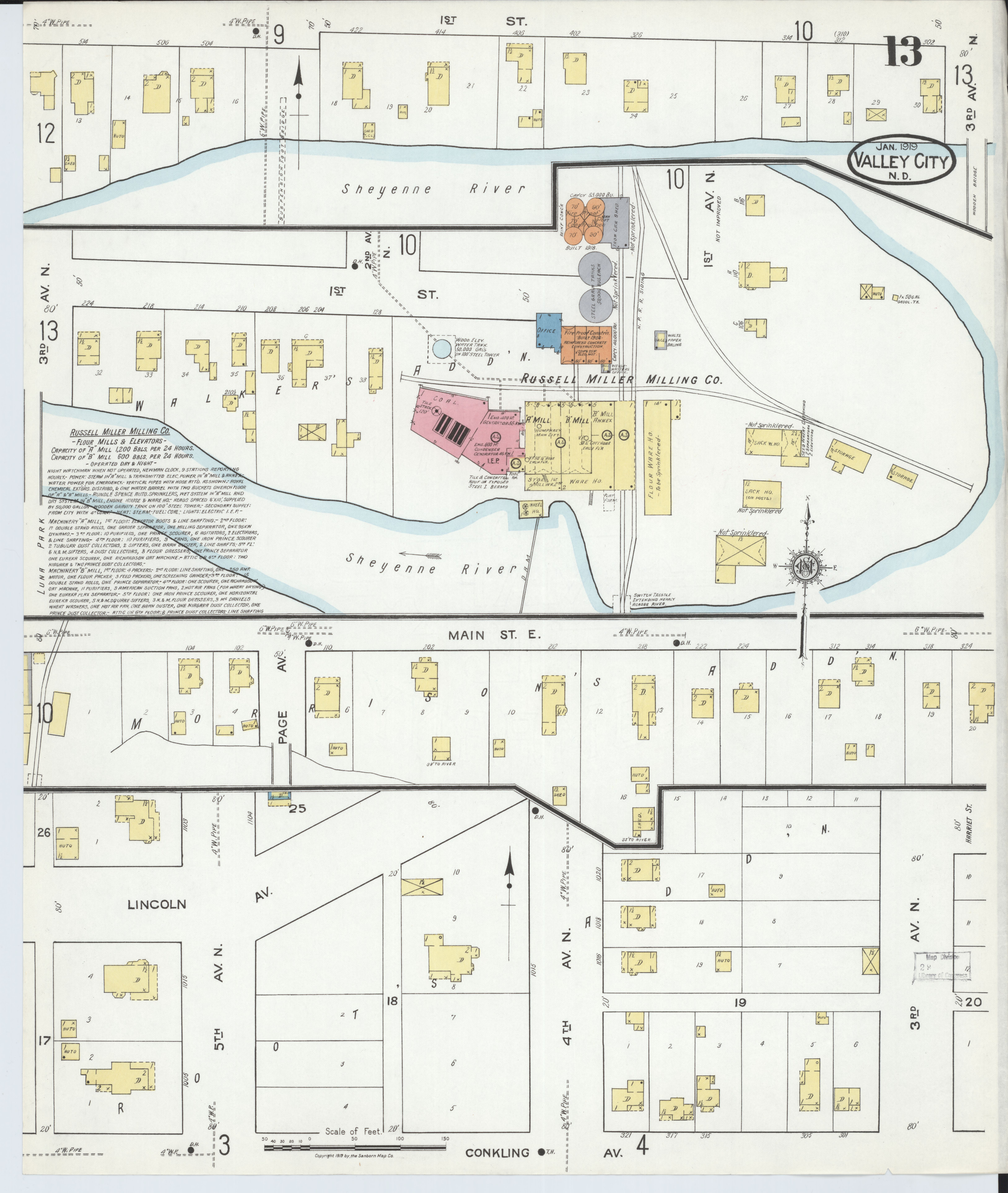File:Sanborn Fire Insurance Map from Valley City, Barnes ... on map of paul's valley city, map of cities of the valley sun, taylor city of north dakota,