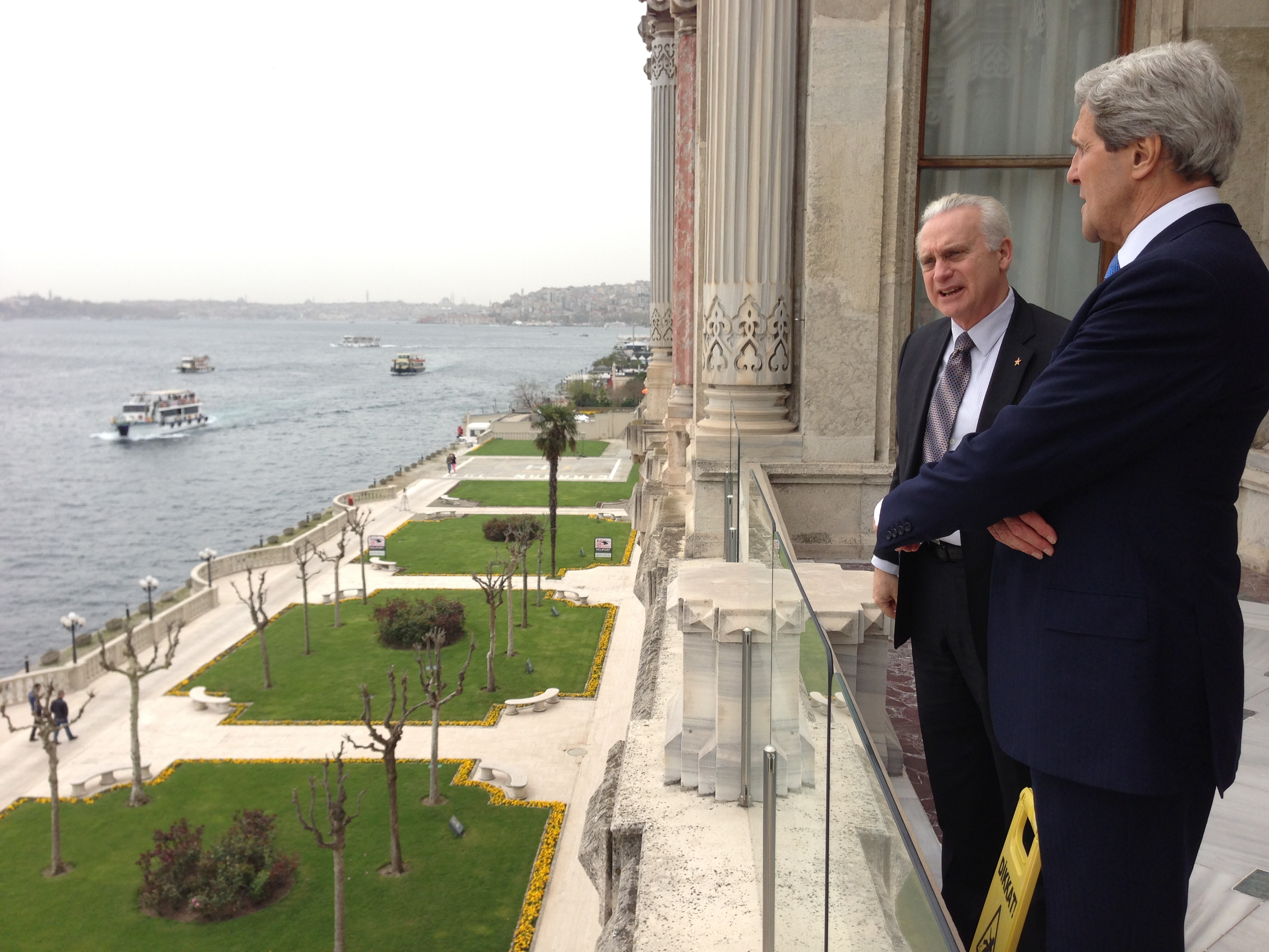 file secretary kerry speaks with u s  ambassador to turkey