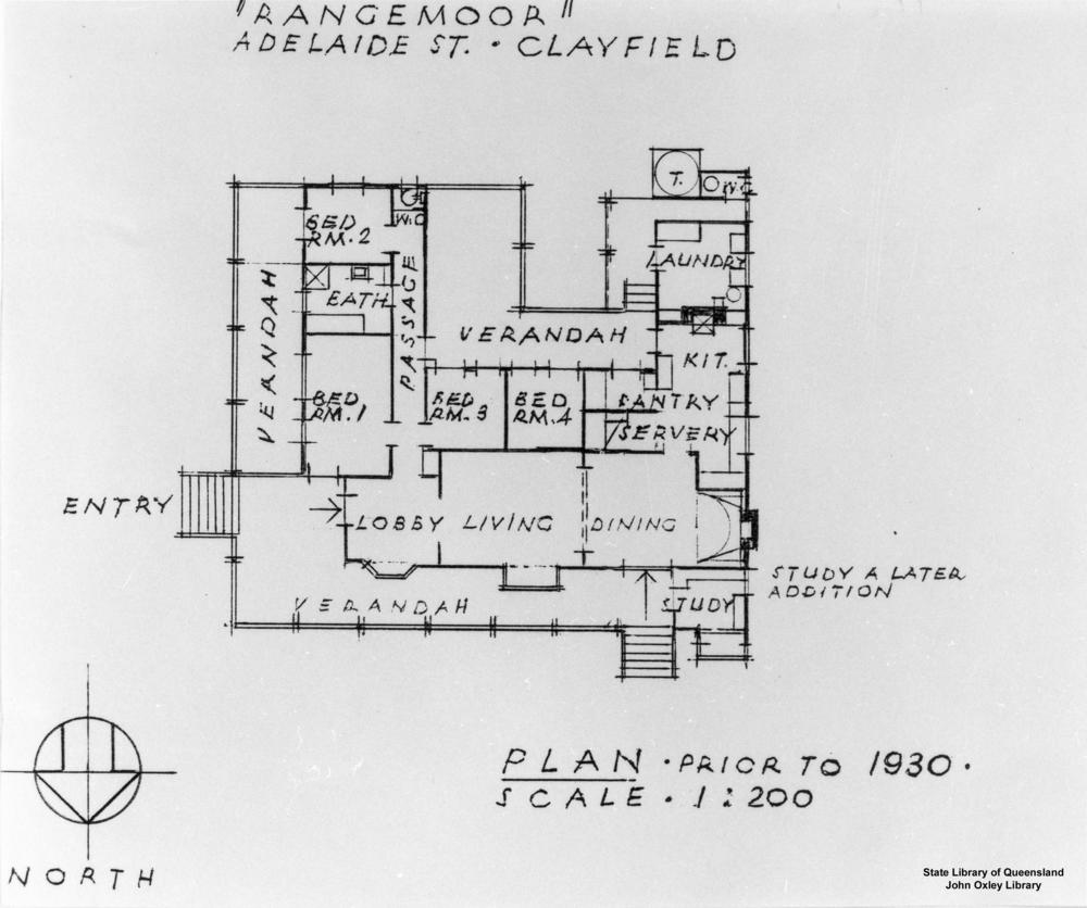 FileStateLibQld 1 120300 Architectural drawing of the house. Architectural drawings of houses