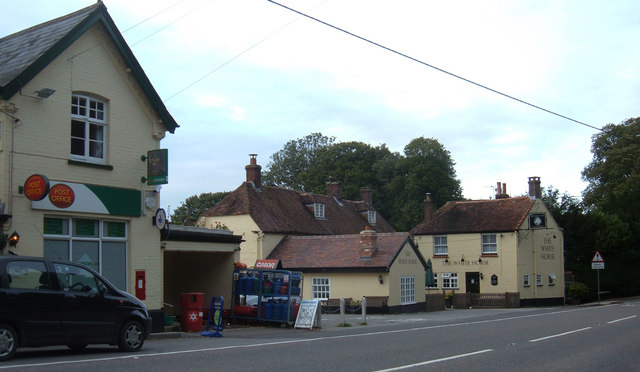 Stourpaine, Post Office and pub - geograph.org.uk - 258946