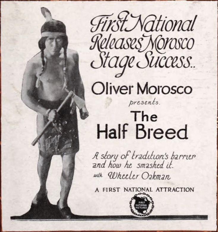 The half breed 1922 vintage movie poster