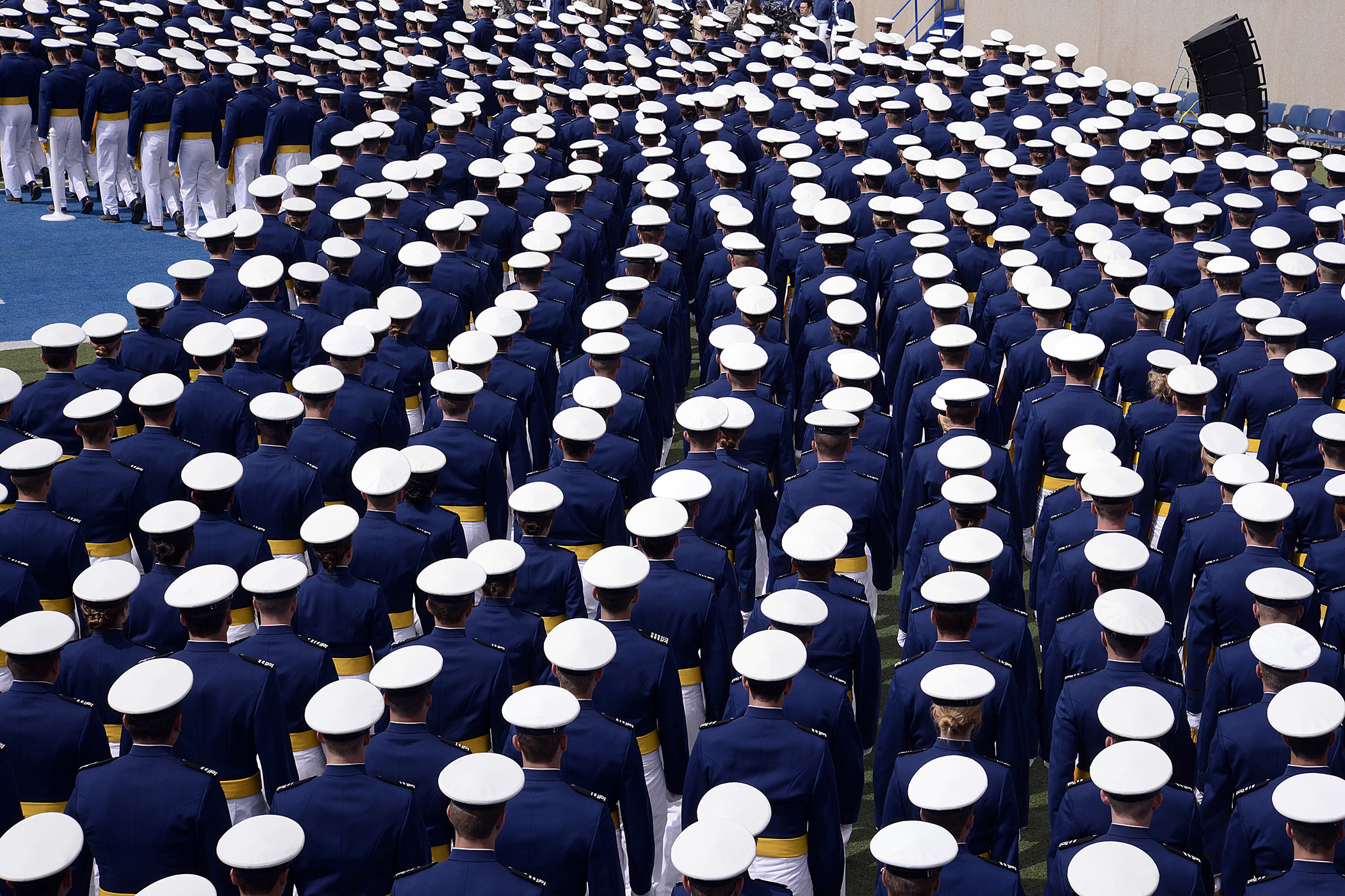 File:The U.S. Air Force Academy Class of 2013 marches into ...