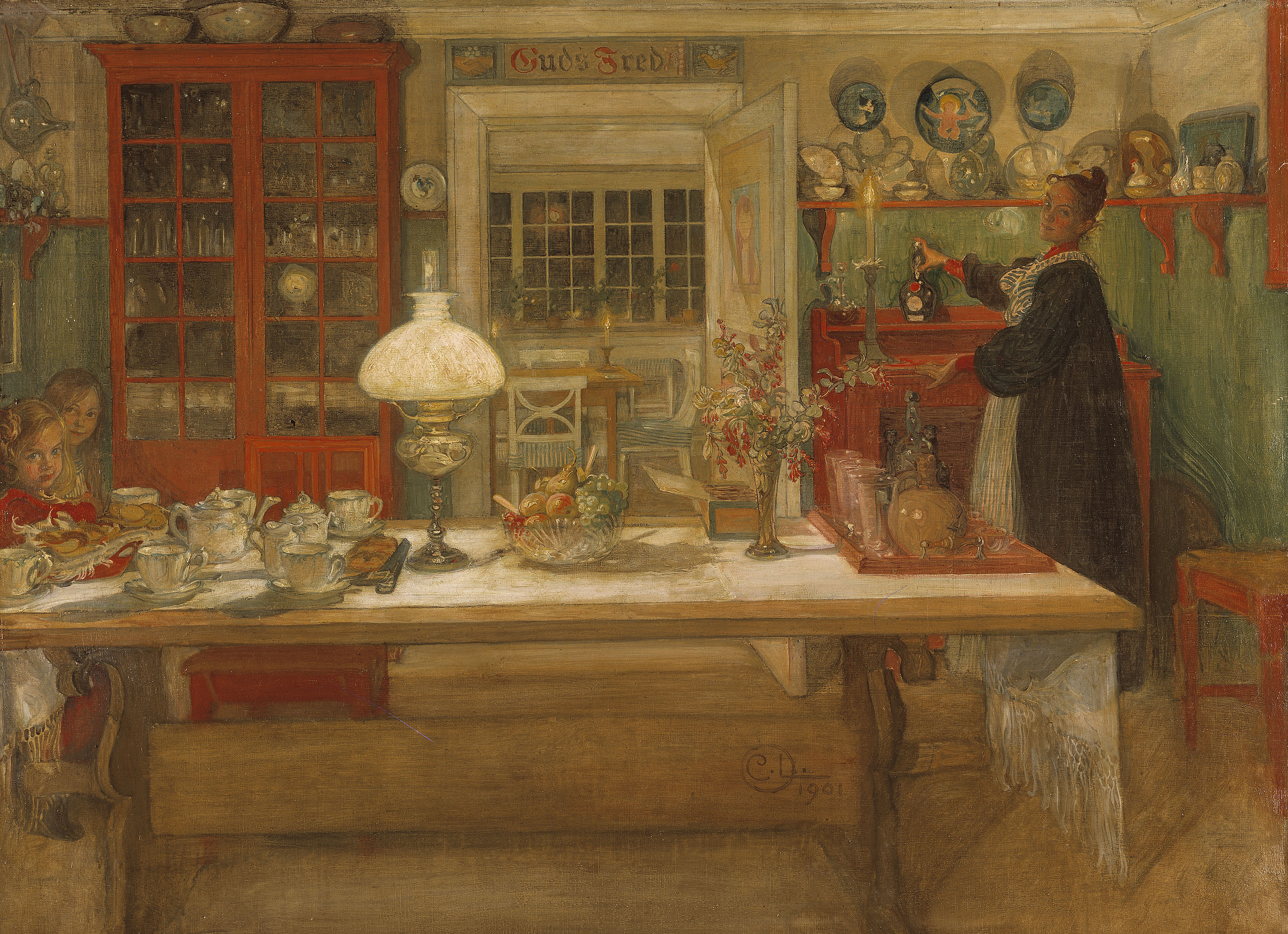 Carl larsson captures early swedish life on farm on for The art and craft