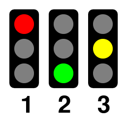 Traffic lights 3 states