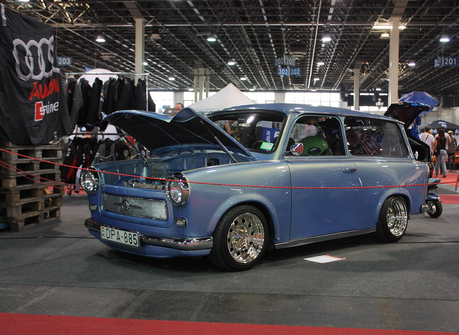 file tuned trabant 601 universal during the tuning show. Black Bedroom Furniture Sets. Home Design Ideas